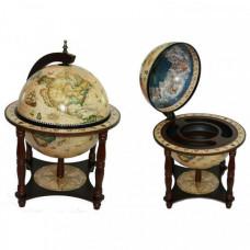 Глобус-бар Сокровища древнего мира настольный на ножках