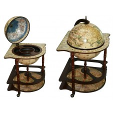Глобус бар Сокровища древнего мира напольный со столом угловой