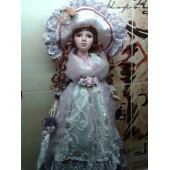 Кукла фарфоровая коллекционная Вероника с  зонтиком