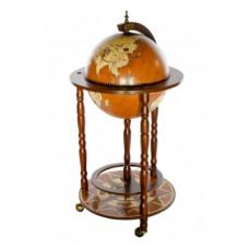 Глобус-бар напольный, сфера 33 см