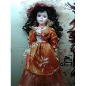 Кукла фарфоровая коллекционная с зонтиком