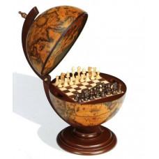 Глобус бар+шахматы Сокровища древнего мира настольный