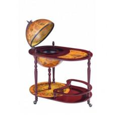 Глобус бар напольный со столиком, сфера 42см.