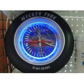Часы настенные КОЛЕСО с подсветкой большие