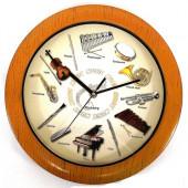 Часы Музыкальные инструменты дерево