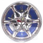 Часы настенные автомобильный диск синий