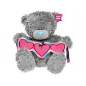 Мишка Teddy Me to you держит гирлянду сердечек I love you this much 30см