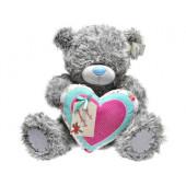 Мишка Teddy Me to you с сердцем You're amazing 60см