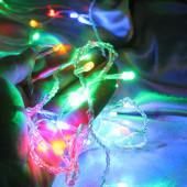 Гирлянда-нить на 100 ламп светодиодная мульти (красный, синий, зелёный, жёлтый) 7 метров