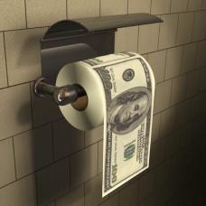 Туалетная бумага с долларами