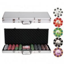 Покерный набор 500 фишек с номиналом