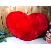 Подушка Сердце меховое 45см