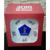 Посуда в наборе сувенирная стекло с эмблемой ЧМ по футболу FIFA Кубок 2018 НОВИНКА