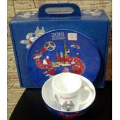 Посуда в наборе сувенирная фарфор с эмблемой ЧМ по футболу FIFA Кубок 2018 НОВИНКА