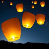 Небесный фонарик цветной